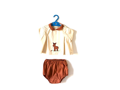 Vintage 1960's Horse Novelty Bloomers Two Piece Outfit 12-18 Months