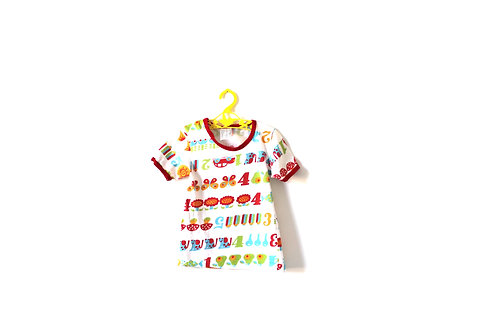 Vintage 1970's Patterned Summer Childrens T-shirt 3 Years