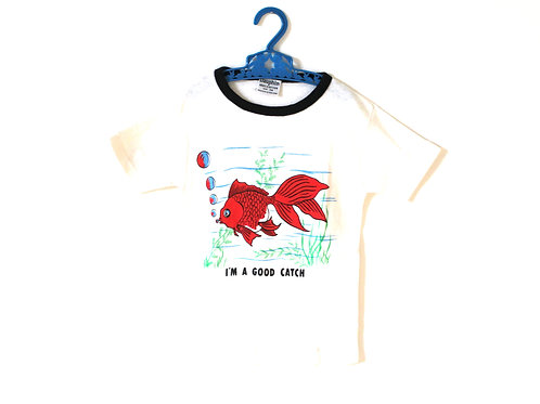 Vintage Fish 70's T-shirt Dauphin 5-6 Years