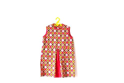Vintage 1960's Pink Geometric Dress 5-6 Years
