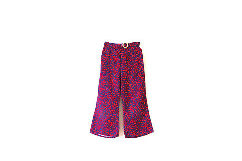 Vintage Floral 1960's Flared Trousers 5 Years