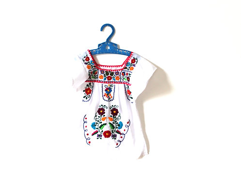Vintage Mexican Girls Tunic Top 12 Months