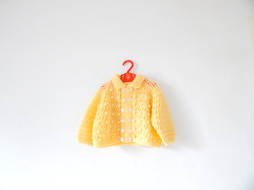 Vintage Yellow Mustard Knitted Jumper 3-6 Months