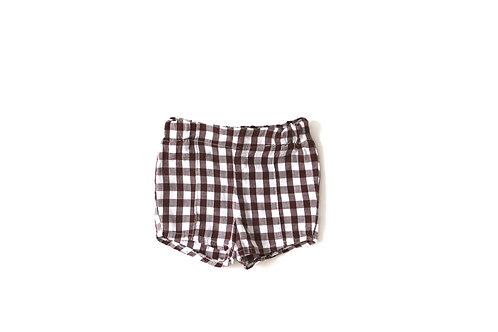 Vintage Brown 1970's Checked Shorts 12 Months