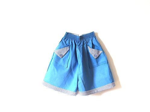 Vintage 1950's Blue Retro Summer Shorts Age 6