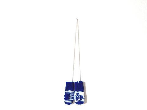 Vintage Blue Nordic Mittens String 6-12 Months