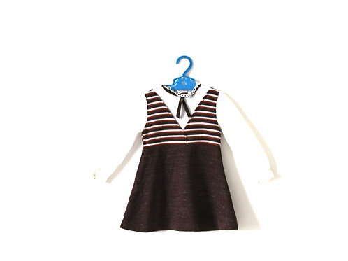 Vintage 1970's Basil Brush Brown Dress 2 Years