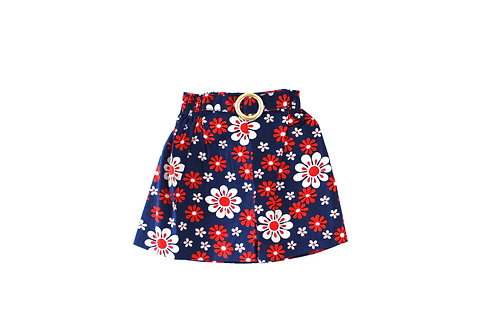 Vintage 1960's Red 12-18 Months Daisy Floral Skirt 12 Months Retro Mod