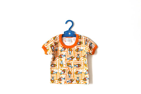 Vintage 1970's Ice-cream Sundae Patterned T-shirt 12 Months