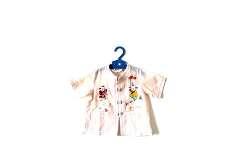 Vintage Oriental Pale Pink Summer Top 2-3 Years