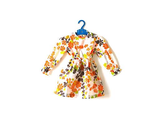 Vintage 1960's Floral Spotty Dress 18 Months