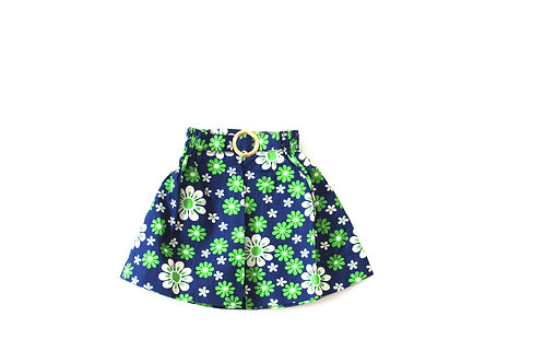 Vintage 1960's Spring Summer Green Girls Skirt Mod 1-2 Years
