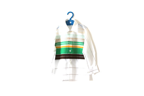 Vintage 1960's Striped Spring Green Blouse 5 Years