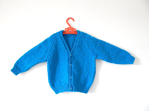 Vintage Toddler Teal Green Cardigan 12-18 Months