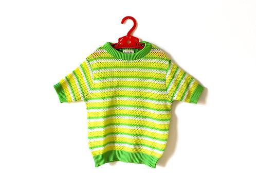 Vintage Mod Yellow Stripe 1960's Top 4-5 Years
