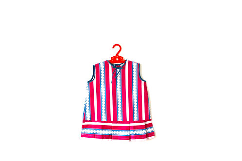 Vintage Striped Spotty 1970's Candy Dress 3 Years