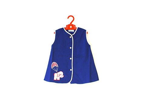 Vintage Blue Girls Elephant Tunic Dress 1-2 Years