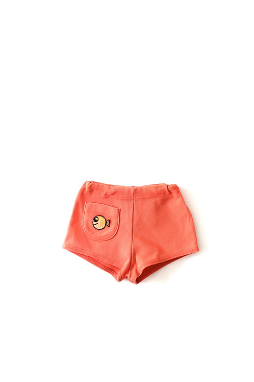 Vintage French Fish 1960's Childrens Baby Summer Shorts 12 Months