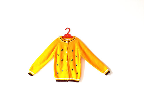 Vintage Yellow Mustard Flower Jumper 6 Years
