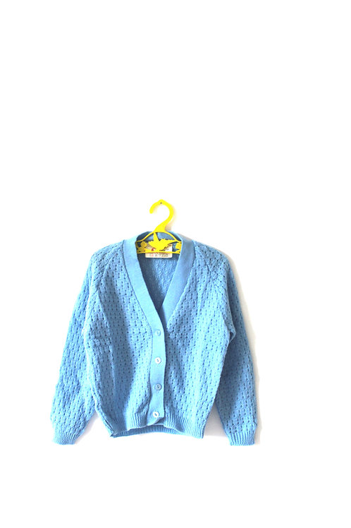Vintage Pale Blue Knitted 60's Jumper Spring Summer