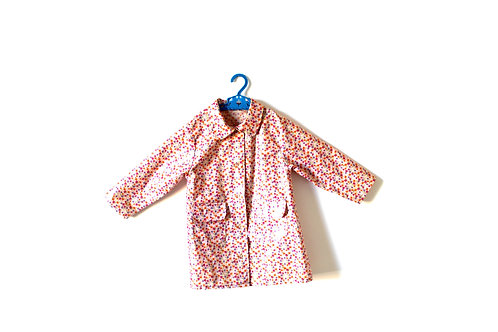 Vintage Girls Pink Floral Raincoat Mac 2-3 Years
