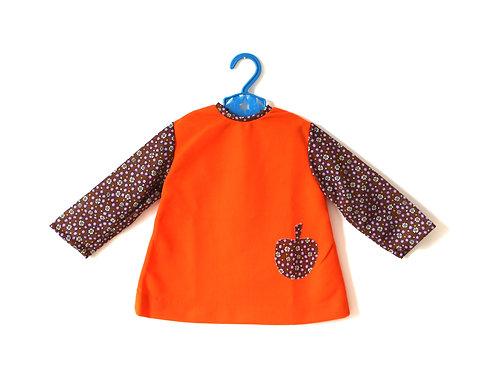 Vintage Girl Apple Orange 1960's Dress 12 Month