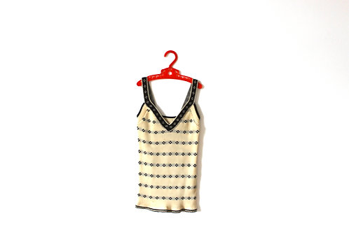 Vintage 1970's Patterned Knitted Vest Top 6 Years