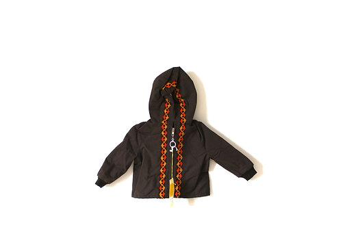 Vintage 1970's Brown and Orange Patterned Coat 12 Months