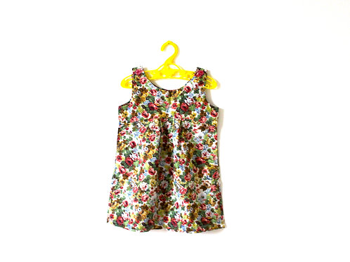 Vintage Autumnal Shift Floral Dress 2 Years
