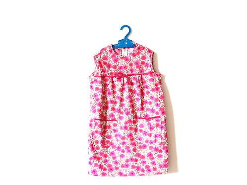 Vintage 1960's Pink Floral Dress 5-6 Years