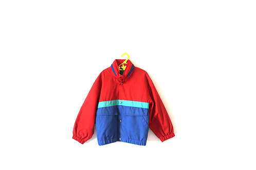 Vintage Tracksuit Bomber Jacket in Red Green and Blue 5-6 Years