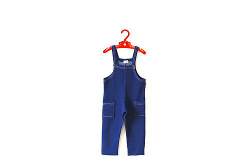 Vintage 1970's Mothercare Navy Dungarees 2 Years