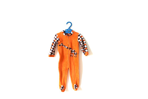 Vintage 1970's Giraffe Baby Romper Suit  3-6 Months