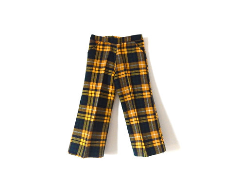 Vintage Yellow Checked Trousers 3 Years
