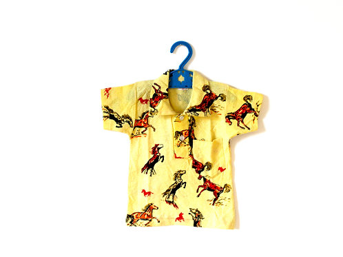 Vintage Boys 1960's Yellow Horse Polo Top 2 Years