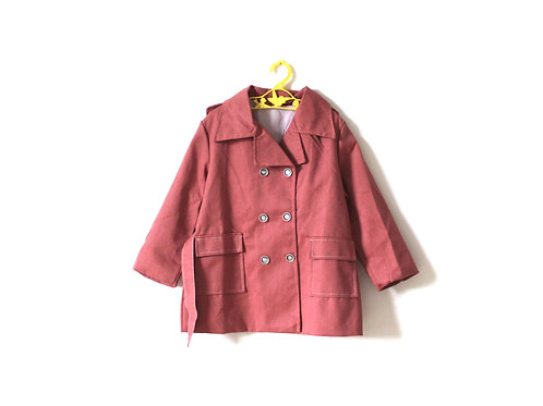 Vintage Mauve Trench Coat 1960's 5 Years