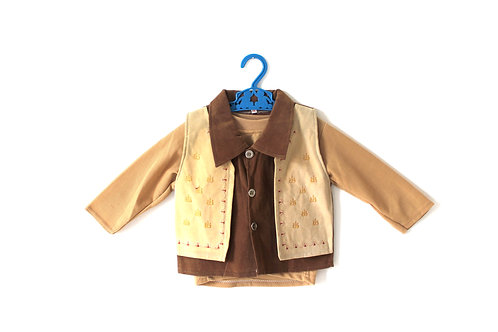 Vintage French Brown Outfit 1960's 2-3 Years