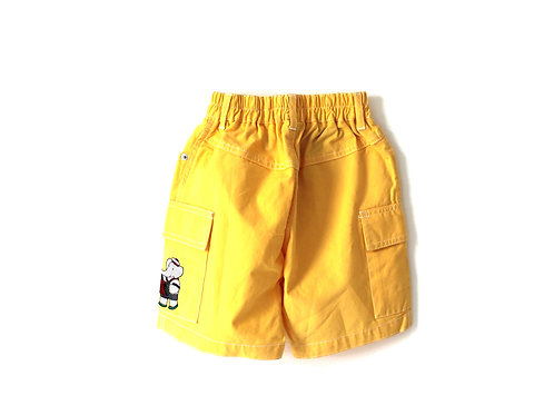 Vintage French Babar Yellow Shorts 3-4 Years
