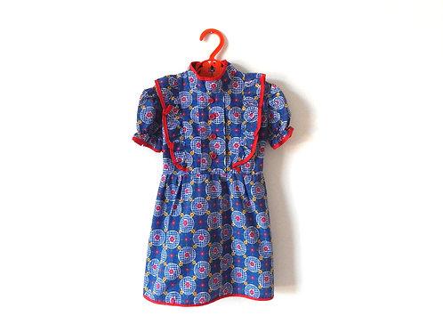 Vintage Girls Floral Summer Tea Dress Age 3 Years