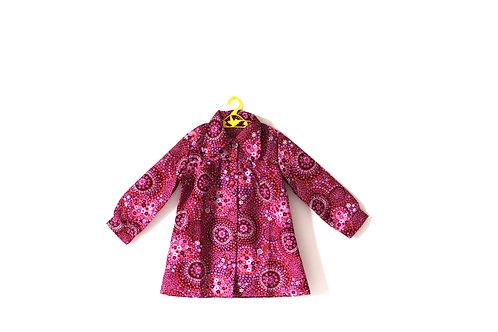 Vintage Girls 1970's Pink Patterned Dress Age 5-6