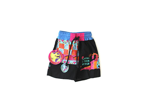 Vintage 80's Boys Patterned Trunks 3-4 Years