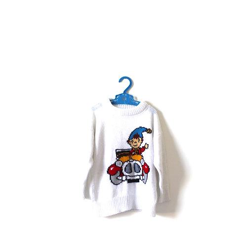 Vintage Noddy Knitted Jumper 3 Years Childrens Boys Girls