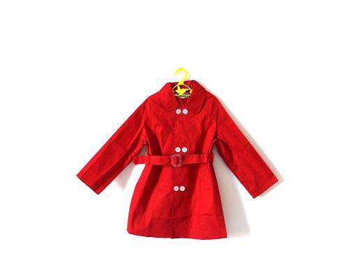 Vintage Red 1970's Rain Mac 5 Years