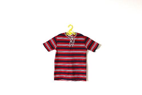 Vintage 1960's Striped Red White T-shirt 7 Years