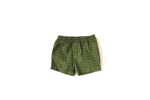 Vintage Green Checked Shorts 3-6 Months
