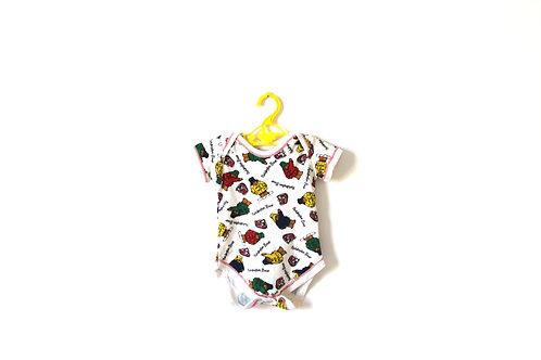 Vintage Paddington Patterned Baby Bodysuit 6-12 Months