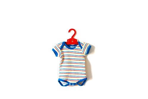 Vintage 1970's Towelling Striped Bodysuit 3 Months