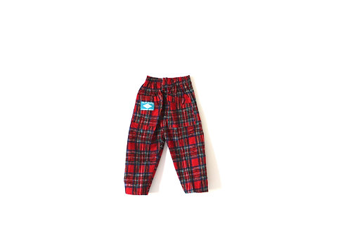 Vintage Red Tartan Winter Trousers 1-2 Years