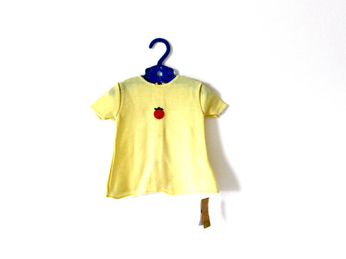Vintage 1960's Lemon and Orange French Baby Dress 0-3 Months