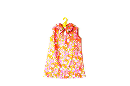 Vintage Girls Floral 1960's Dress Age 5-6